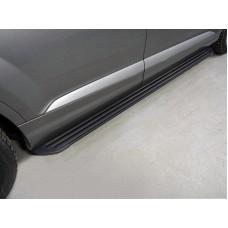 Пороги алюминиевые `Slim Line Black` 2020 мм код AUDIQ715-10B