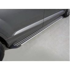 Пороги алюминиевые `Slim Line Silver` 2020 мм код AUDIQ715-10S