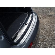 Накладки на задний бампер (лист шлифованный надпись audi) код AUDIQ715-07