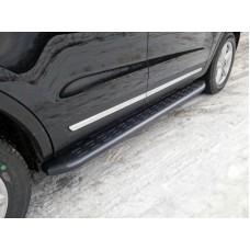 Пороги алюминиевые с пластиковой накладкой (карбон черные) 1920 мм код FOREXPL16-13BL