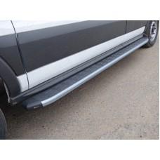 Порог алюминиевый с пластиковой накладкой (карбон серебро) 2220 мм (левый) код FORTRAN16-18SL