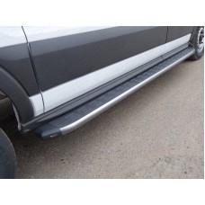 Порог алюминиевый с пластиковой накладкой (карбон серые) 2220 мм (правый) код FORTRAN16-05GR