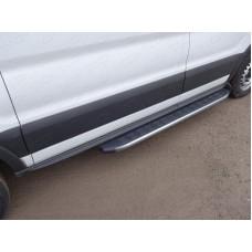 Порог алюминиевый с пластиковой накладкой (карбон серые) 1720 мм (правый) код FORTRAN16-07GR