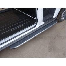 Порог алюминиевый с пластиковой накладкой (карбон серебро) 1720 мм (правый) код FORTRAN16-07SL