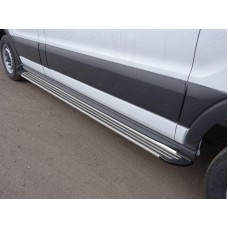 Порог алюминиевые `Slim Line Silver` 2220 мм (левый) код FORTRAN16-24S