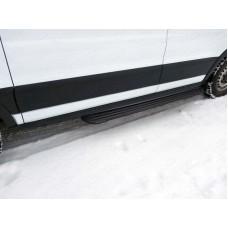 Порог алюминиевые `Slim Line Black` 1720 мм (правый) код FORTRAN16-15B