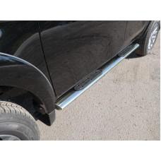 Пороги овальные с накладкой 120х60 мм код FIAFUL16-07