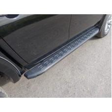 Пороги алюминиевые с пластиковой накладкой (карбон черные) 1820 мм код FIAFUL16-10BL