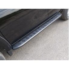 Пороги алюминиевые с пластиковой накладкой (карбон серые) 1820 мм код FIAFUL16-10GR
