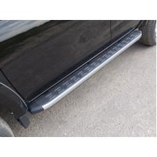 Пороги алюминиевые с пластиковой накладкой 1820 мм код FIAFUL16-10AL