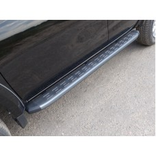Пороги алюминиевые с пластиковой накладкой (карбон серебро) 1820 мм код FIAFUL16-10SL
