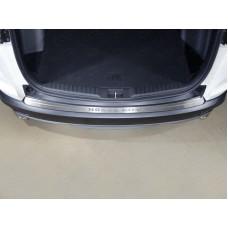 Накладка на задний бампер (лист шлифованный надпись Honda CR-V) код HONCRV17-12