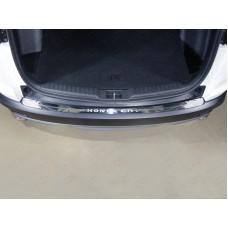Накладка на задний бампер (лист зеркальный надпись Honda CR-V) код HONCRV17-11