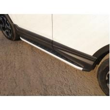 Пороги алюминиевые с пластиковой накладкой 1720 мм код HONCRV17-25AL