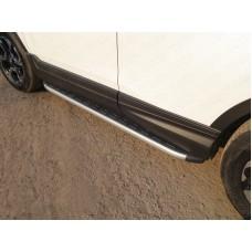 Пороги алюминиевые с пластиковой накладкой (карбон серебро) 1720 мм код HONCRV17-25SL