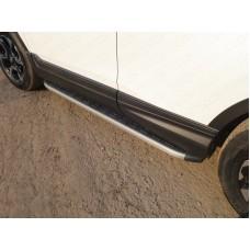 Пороги алюминиевые с пластиковой накладкой (карбон серые) 1720 мм код HONCRV17-25GR