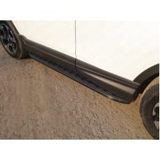 Пороги алюминиевые с пластиковой накладкой (карбон черные) 1720 мм код HONCRV17-25BL