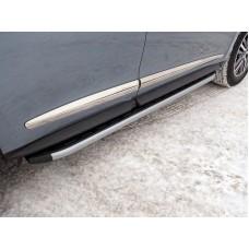 Пороги алюминиевые с пластиковой накладкой (карбон серебро) 1720 мм код INFQX6016-45SL