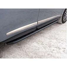Пороги алюминиевые с пластиковой накладкой (карбон черные) 1720 мм код INFQX6016-45BL