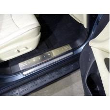 Накладки на пластиковые пороги (лист шлифованный надпись Infiniti) код INFQX6016-06