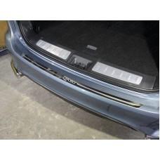 Накладка на задний бампер (лист зеркальный надпись QX 60) код INFQX6016-11