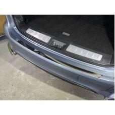 Накладка на задний бампер (лист зеркальный) код INFQX6016-09