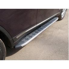 Пороги алюминиевые с пластиковой накладкой (карбон серебро) 1820 мм код INFQX7015-09SL
