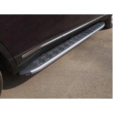 Пороги алюминиевые с пластиковой накладкой (карбон серые) 1820 мм код INFQX7015-09GR