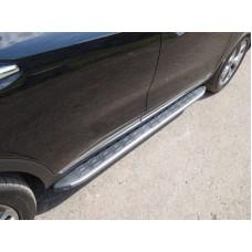 Пороги алюминиевые с пластиковой накладкой (карбон серебро) 1820 мм код KIASORPR18-26SL