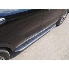 Пороги алюминиевые с пластиковой накладкой (карбон серые) 1820 мм код KIASORPR18-26GR