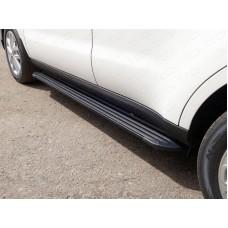 Пороги алюминиевые `Slim Line Black` 1720 мм код KIASOUL17-27B