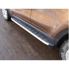 Пороги алюминиевые с пластиковой накладкой 1720 мм код KIASPORT16-16AL