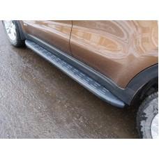 Пороги алюминиевые с пластиковой накладкой (карбон черные) 1720 мм код KIASPORT16-16BL