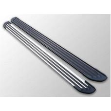 Пороги алюминиевые `Slim Line Silver` 1720 мм код KIASPORT16-40S