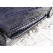 Пороги алюминиевые с пластиковой накладкой (карбон черные) 1920 мм код LRRRSP15-07BL