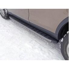 Пороги алюминиевые с пластиковой накладкой (карбон серые) 1820 мм код LRDISSPOR15-05GR