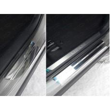 Накладки на пороги (лист зеркальный) 1мм код LEXNX20015T-24