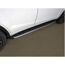 Пороги алюминиевые с пластиковой накладкой (карбон серебро) 1720 мм код LIFX6017-21SL