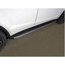 Пороги алюминиевые с пластиковой накладкой (карбон серые) 1720 мм код LIFX6017-21GR