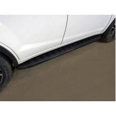 Пороги алюминиевые с пластиковой накладкой (карбон черные) 1720 мм код LIFX6017-21BL