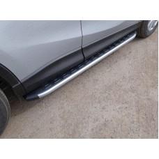 Пороги алюминиевые с пластиковой накладкой (карбон серебро) 1720 мм код MAZCX515-16SL