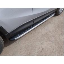 Пороги алюминиевые с пластиковой накладкой (карбон серые) 1720 мм код MAZCX515-16GR