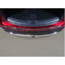 Накладка на задний бампер (лист зеркальный с полосой) код MAZCX917-07