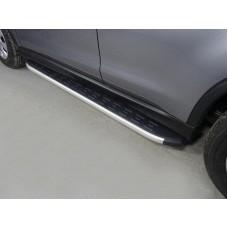 Пороги алюминиевые с пластиковой накладкой 1720 мм код MITSASX17-11AL