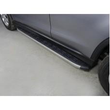 Пороги алюминиевые с пластиковой накладкой (карбон серые) 1720 мм код MITSASX17-11GR