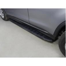 Пороги алюминиевые с пластиковой накладкой (карбон черные) 1720 мм код MITSASX17-11BL