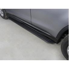 Пороги алюминиевые `Slim Line Black` 1720 мм код MITSASX17-12B