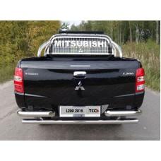 Защита кузова и заднего стекла 75х42 мм со светодиодной фарой код MITL20015-50