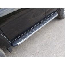 Пороги алюминиевые с пластиковой накладкой 1820 мм код MITL20015-11AL