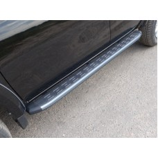 Пороги алюминиевые с пластиковой накладкой (карбон серебро) 1820 мм код MITL20015-11SL